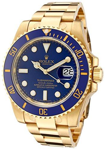 The Rolex Watch Gold and Blue Submariner