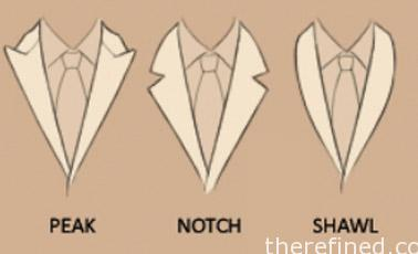 Dinner jacket lapel styles